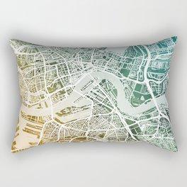 Rotterdam Netherlands City Map Rectangular Pillow