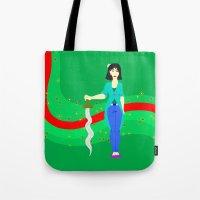 mulan Tote Bags featuring Mulan by Eva Duplan Illustrations