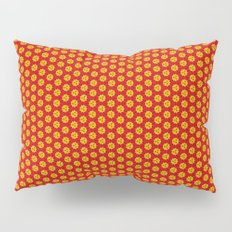 red and yellow Pillow Sham
