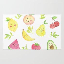 Watercolor Fruit pattern Rug