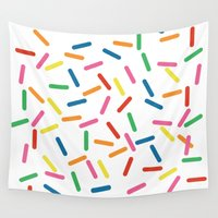 sprinkles Wall Tapestries featuring Sprinkles by Gold Collective