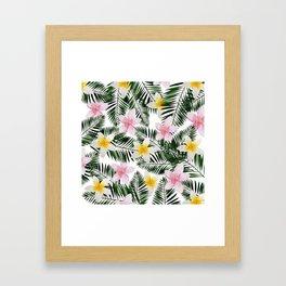 Leave Me Aloha in White Framed Art Print