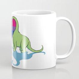 Bi Pride - Dino Love Coffee Mug