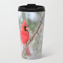 Winter's End Cardinal Travel Mug
