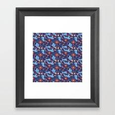 Floral Tiger Framed Art Print
