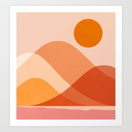 Abstraction_Mountains_Beach_Minimalism_001 Art Print