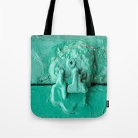 platypus Tote Bags featuring Platypus Face  by Ethna Gillespie