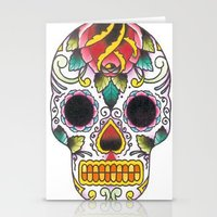 tatoo Stationery Cards featuring Tatoo ART 4  by The Greedy Fox