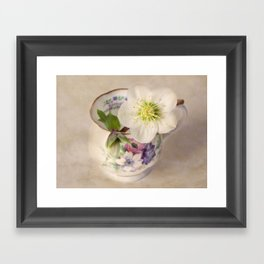 January Flower Framed Art Print