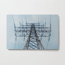 Transmission Tower II. Photograph Metal Print