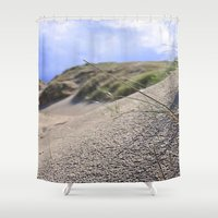 dune Shower Curtains featuring Dune by  Agostino Lo Coco