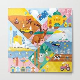 Travel To Australia Metal Print
