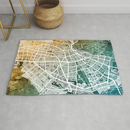 Cali Colombia City Map Rug