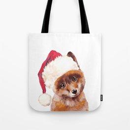 Christmas Baby Fox Tote Bag