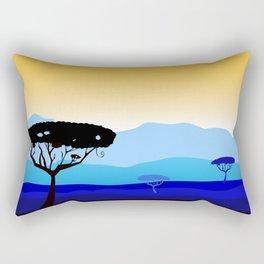 Africa : blue and gold Art Rectangular Pillow