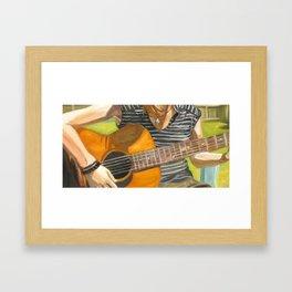 Backyard Guitar Framed Art Print