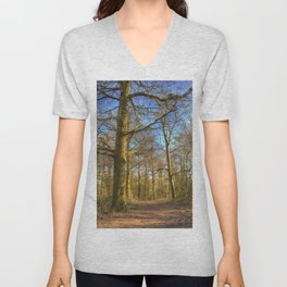 The Forest Path in Springtime Unisex V-Neck