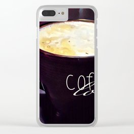 Coffee Love Clear iPhone Case