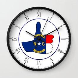 Thumbs Up North Carolina Wall Clock