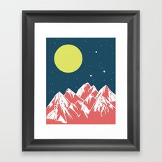 galactic mountains Framed Art Print