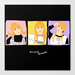 Knock Knock! Momo Version Canvas Print