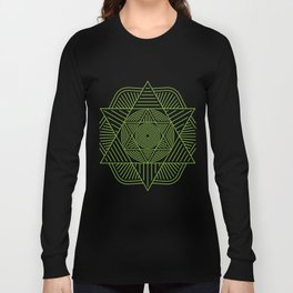 SACRED GEOMETRY METATRONS CUBE Gift For Yoga Lover Long Sleeve T-shirt