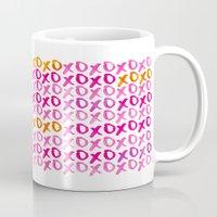 xoxo Mugs featuring XOXO by Sara Berrenson