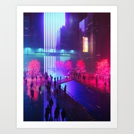 RADIATE BLUE (everyday 07.11.17) Art Print