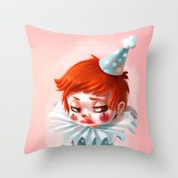 makeup Throw Pillows featuring Makeup by Joelle Murray
