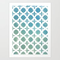 monogram Art Prints featuring Monogram by Chilligraphy