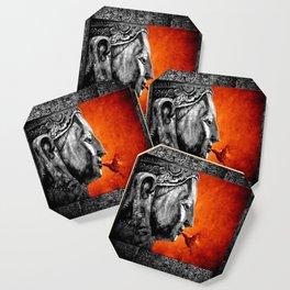 BUDDHA KISS - frame orange black version Coaster