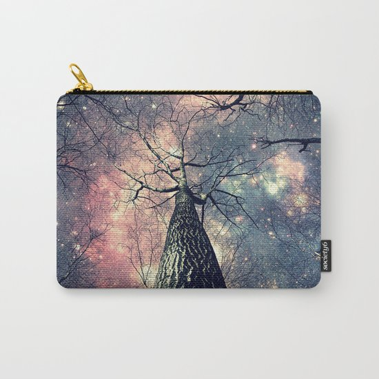 Wintry Trees Galaxy Skies Carry-All Pouch