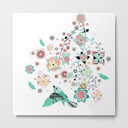 Soleil flora Metal Print