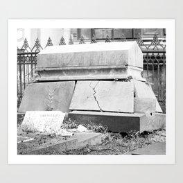 very old grave Art Print