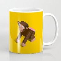 monkey Mugs featuring Monkey by Mezoozoo
