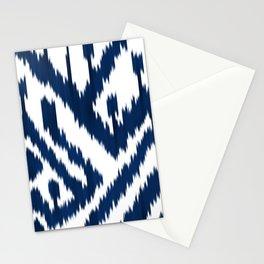 Indigo ikat 10 Stationery Cards