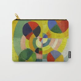 """Robert Delaunay """"Circular Forms"""" (detail) Carry-All Pouch"""