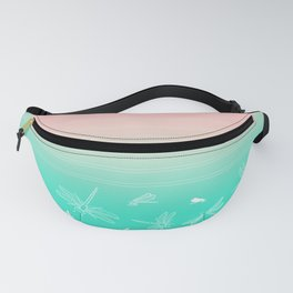 Dragonfly, Pink and Green Blush Fanny Pack