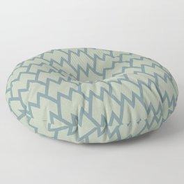 Soft Aqua Blue Green Tessellation Line Pattern 18 2021 Color of the Year Aegean Teal Salisbury Green Floor Pillow