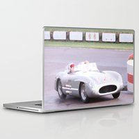 mercedes Laptop & iPad Skins featuring Mercedes Benz Silberpfeil with Stirling Moss by Premium
