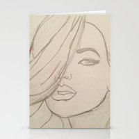 jojo Stationery Cards featuring JoJo by Art By JuJu
