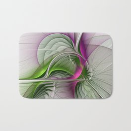 Wild Beauty, Abstract Fractal Art Bath Mat