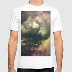 Cloud Cover White MEDIUM Mens Fitted Tee