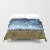lightning Duvet Covers featuring Lightning Storm by Paul Kimble