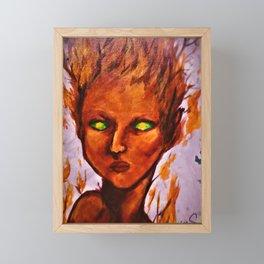 (Fire Sprite) Fire Fairy Portrait Framed Mini Art Print