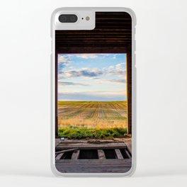 Prairie Through a Grain Elevator Clear iPhone Case
