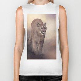 Florida panther or cougar digital painting Biker Tank