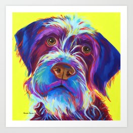 Wirehaired Griffon or Labradoodle Art Print