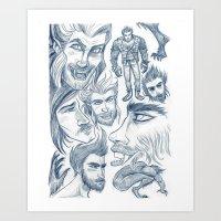 All of Them Werewolves Art Print