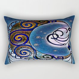 Moon swirl dreamcatcher Rectangular Pillow